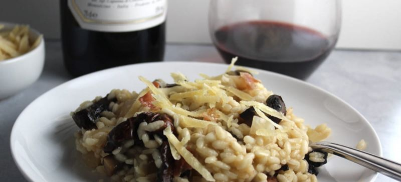 Photo for: Mushroom Risotto and Wine